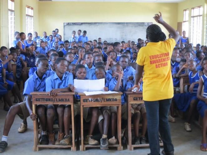 Working in a school GHANA